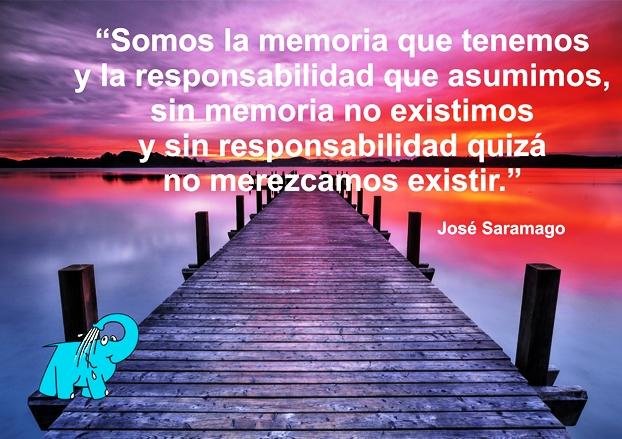 Una Enseñanza de José Saramago en la Frase del Día del Elefante Azul de Avilés