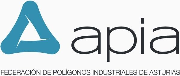 Logotipo de la Federación de Polígonos Industriales de Asturias a la que pertenecen los Centros de lavado y detallado de coches Elefante Azul de Avilés