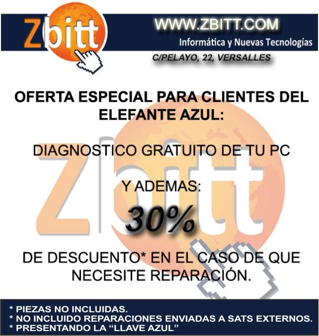 Foto de ventajas Zbitt Avilés para todos los clientes del Elefante Azul de Avilés