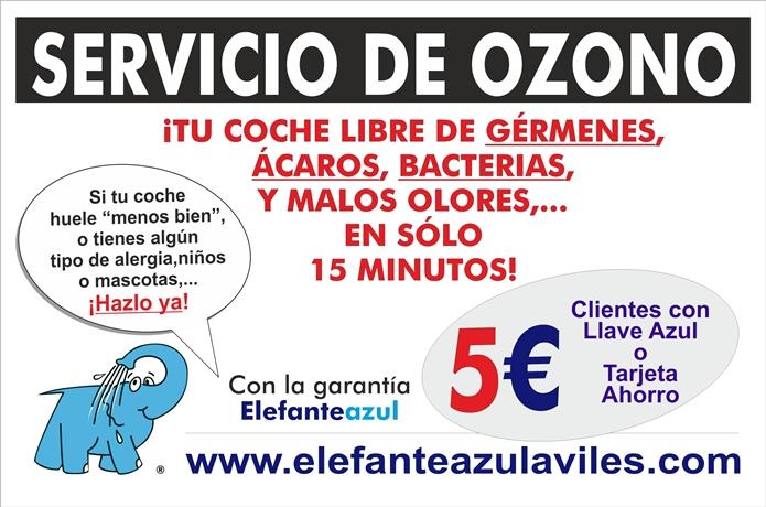 Servicio de Ozono del Centro de lavado de coches Elefante Azul de Avilés