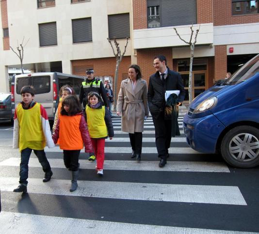 Foto de conductores y peatones en el sitio web del Elefante Azul de Avilés