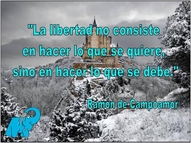 Ramón de Campoamor en la frase del día de los Centros de lavado Elefante Azul de Avilés.