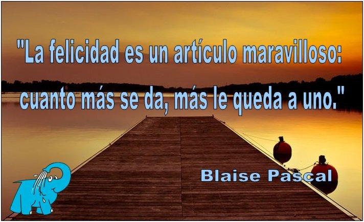 Blaise Pascal en la frase del día de los Centros de lavado Elefante Azul de Avilés.