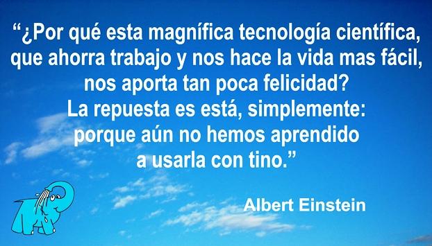 Una enseñanza de Albert Einstein en la frase del día del Centro de lavado de coches Elefante Azul de Avilés