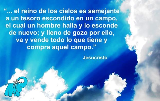 Una enseñanza de Jesucristo en el frase del día del Centro de lavado de coches Elefante Azul de Avilés