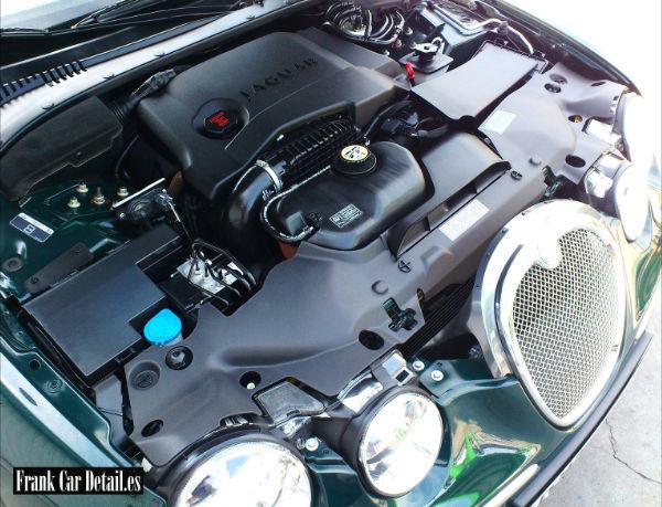 Estado del motor después de su limpieza en Frank Car Detail. Centro de lavado y reacondicionado de coches Elefante Azul de Avilés