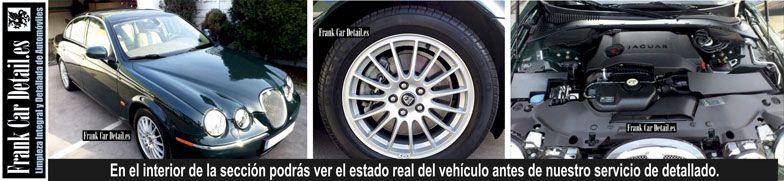 Así quedó el Jaguar después del detallado en Frank Car Detail