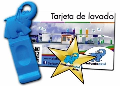 Elefante Azul Aviles - Llave o Tarjeta de Lavado - Centro de lavado de coches Elefante Azul Avilés