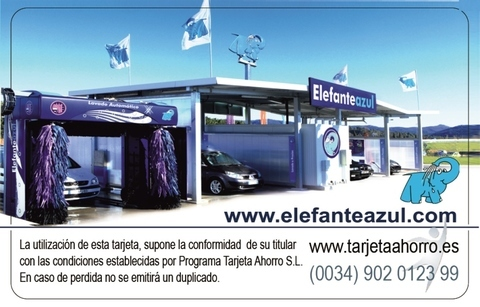 Elefante Azul Aviles - Tarjeta Ahorro Elefante Azul - Centro de lavado de coches Elefante Azul Avilés