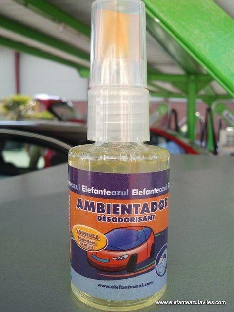 Elefante Azul Aviles - Ambientador Spray Vainilla - Centro de lavado de coches Elefante Azul Avilés