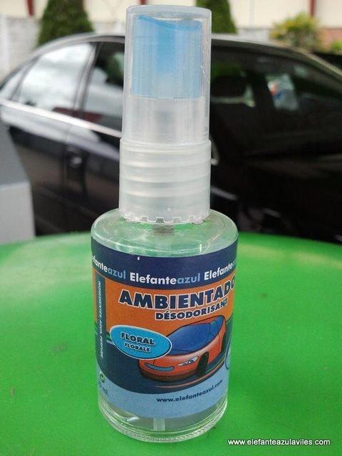 Elefante Azul Aviles - Ambientador Spray Pino - Centro de lavado de coches Elefante Azul Avilés