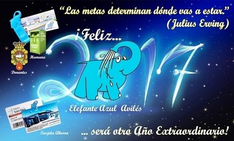Elefante Azul Aviles - Feliz Año 2017 - Centro de lavado de coches Elefante Azul Avilés