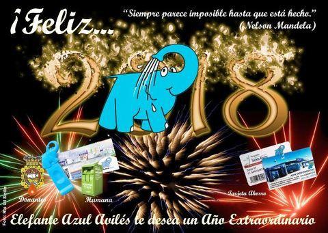 Elefante Azul Aviles - ¡FELIZ 2018!