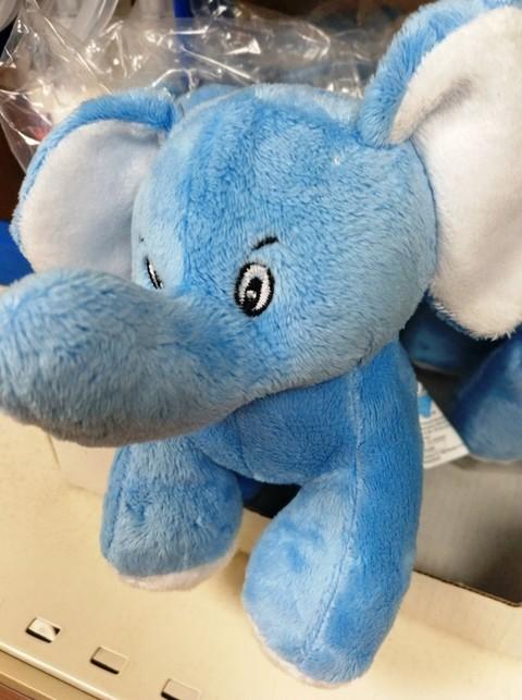 Elefante Azul Aviles - Peluche Elefantito Azul - Centro de lavado de coches Elefante Azul Avilés