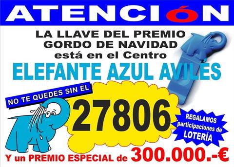 Elefante Azul Aviles - Lotería de Navidad 27806