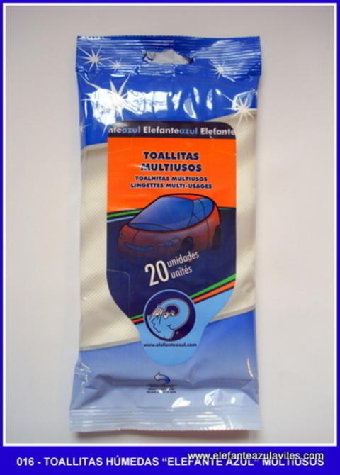 Elefante Azul Aviles - Toallitas húmedas Elefante Azul Salpicadero - Centro de lavado de coches Elefante Azul Avilés