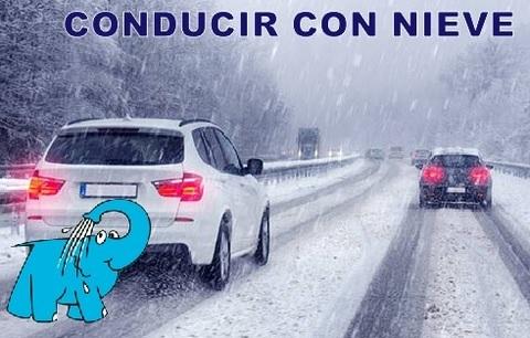 Elefante Azul Aviles - La Nieve en la carretera - Centro de lavado de coches Elefante Azul Avilés