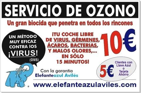 Elefante Azul Aviles - Ozono el mejor Biocida según la OMS - Centro de lavado de coches Elefante Azul Avilés